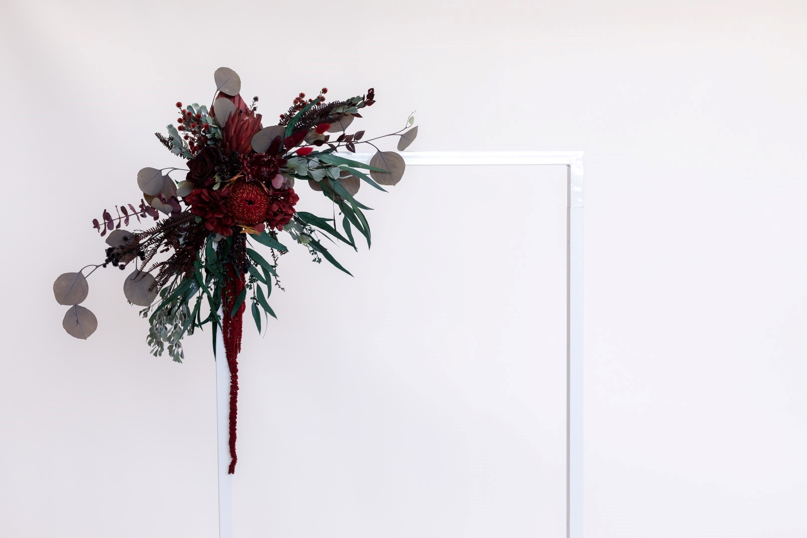 Burgundy small multipurpose floral decoration